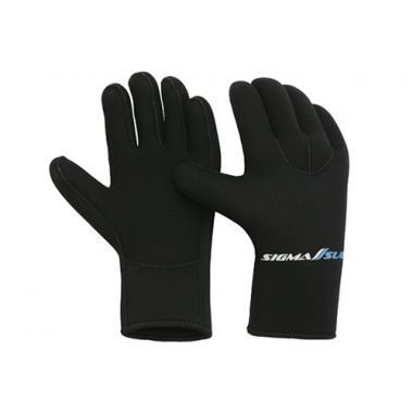 Перчатки пятипалые SigmaSub ELASTIC 5мм. суперстейч/нейлон